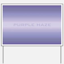 Purple haze wide Yard Sign