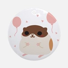 Happy Hamsters Perfect Morning Poop Round Ornament