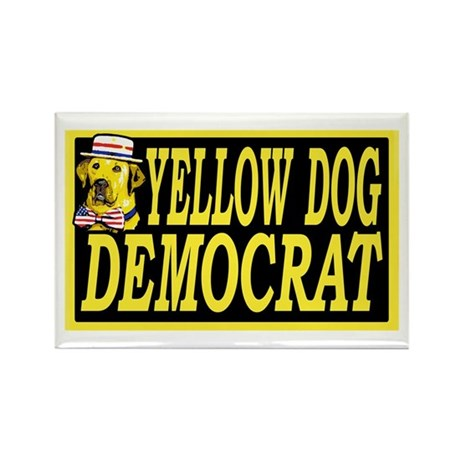 New Yellow Dog Democrat Rectangle Magnet