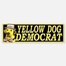 New Yellow Dog Democrat Bumper Bumper Bumper Sticker