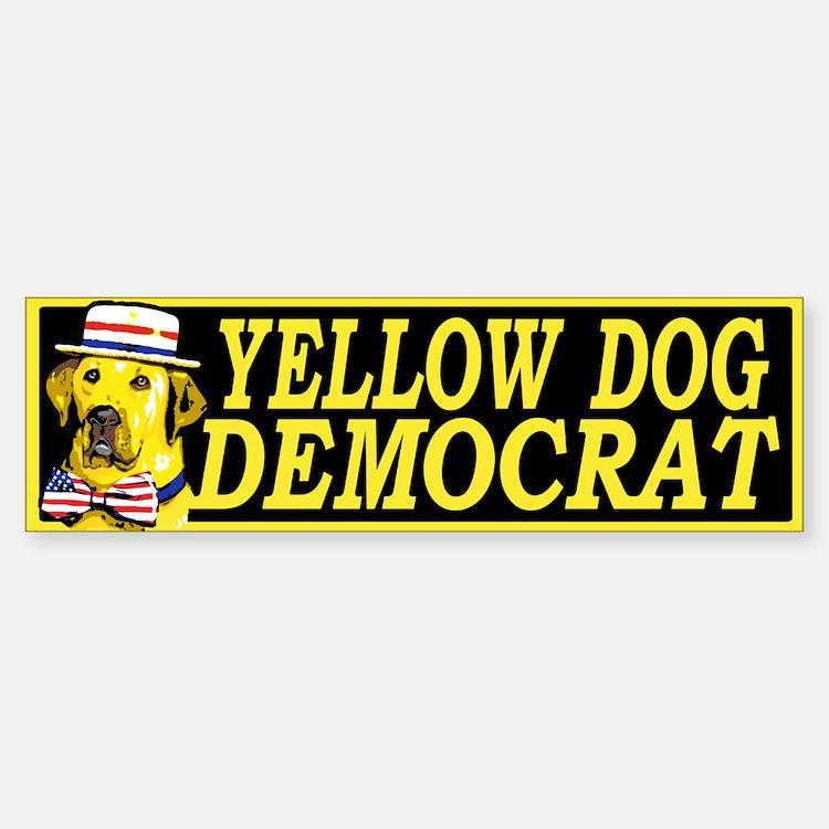 New Yellow Dog Democrat Bumper Bumper Bumper Sticker