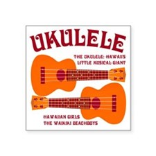 "ukulele_T Square Sticker 3"" x 3"""