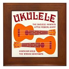 ukulele_T Framed Tile