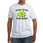 Green Green Lima Bean Fitted T-Shirt