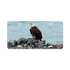 5x3oval_sticker_eagle Aluminum License Plate