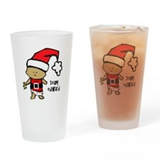 santa baby team edward copy Drinking Glass