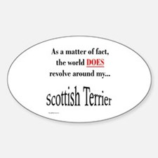 Scotty World Oval Decal