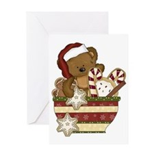 Sweet Christmas Bear Greeting Card