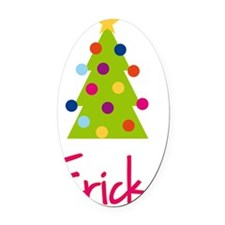 Christmas-tree-Ericka Oval Car Magnet