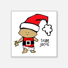 "santa baby team jacob copy Square Sticker 3"" x 3"""