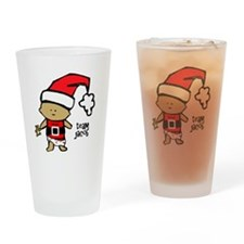 santa baby team jacob copy Drinking Glass