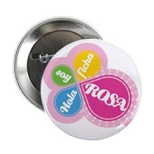 "HOLA SOY FICHA ROSA 2.25"" Button"
