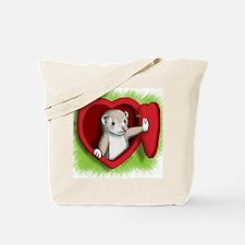 Valentine Ferret Heart Door Tote Bag