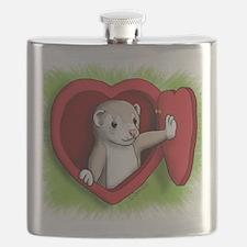 Valentine Ferret Heart Door Flask