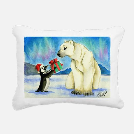 XmasCard Rectangular Canvas Pillow