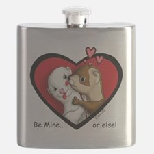 Valentine Be Mine-or else Flask