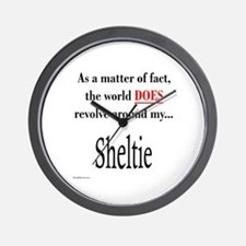 Sheltie World Wall Clock