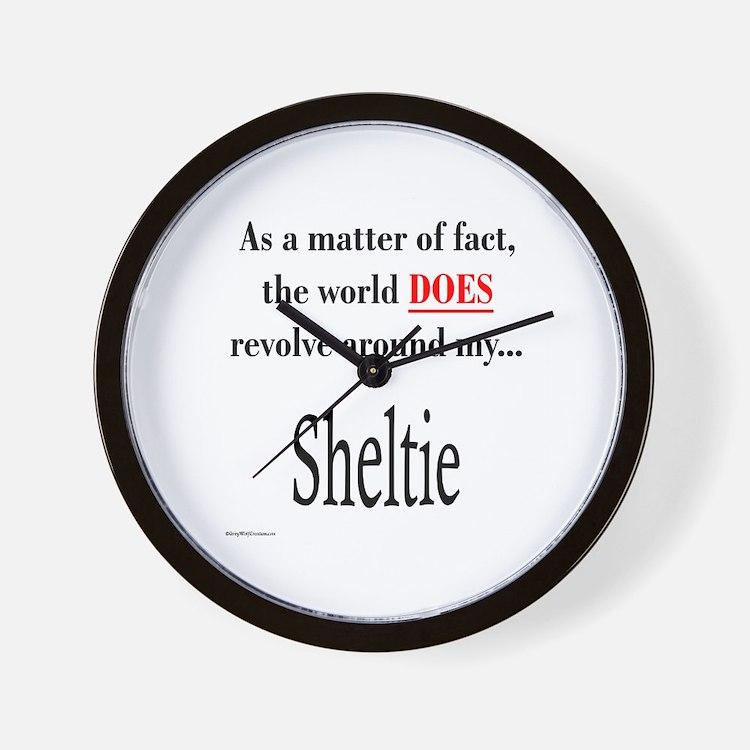 Sheltie World Wall Clock