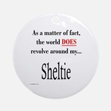 Sheltie World Ornament (Round)