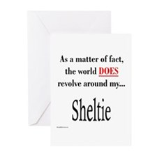 Sheltie World Greeting Cards (Pk of 10)