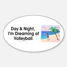 Dreaming of Volleyball Oval Decal