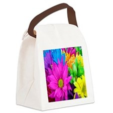 Colorful-Flowers2 Canvas Lunch Bag