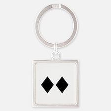 Awesome_Ski_Co_wht Square Keychain
