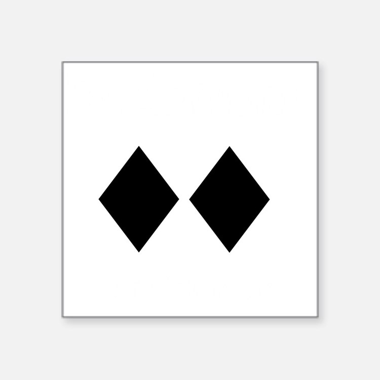"Awesome_Ski_Co_wht Square Sticker 3"" x 3"""