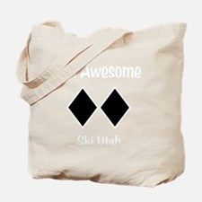 Awesome_Ski_Utah_wht Tote Bag