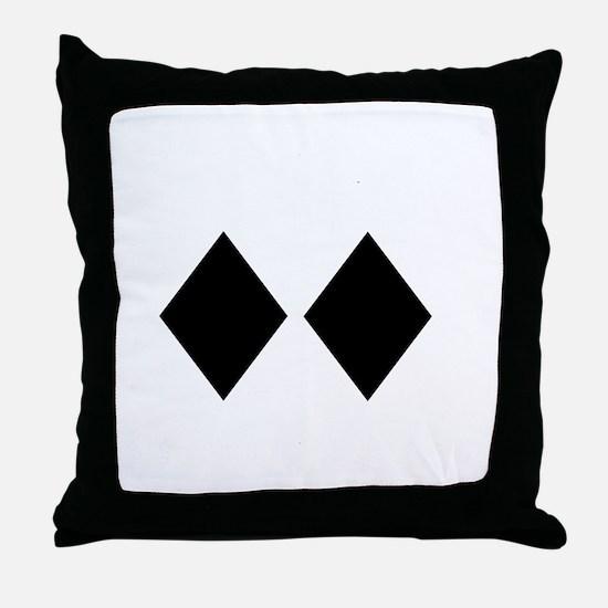 Awesome_Ski_Utah_wht Throw Pillow