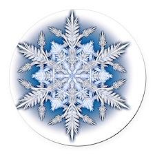 Snowflake Designs - 033 - large Round Car Magnet