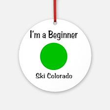Beginner_Ski_CO Round Ornament