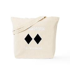 Awesome_Ski_Vt_wht Tote Bag