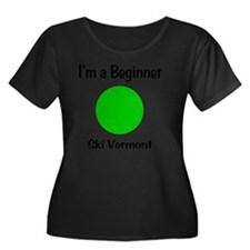 Beginner Women's Plus Size Dark Scoop Neck T-Shirt