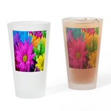 Colorful-Flowers2 Drinking Glass