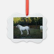 Gypsy Vanner Horses Petal  Rawnie Ornament
