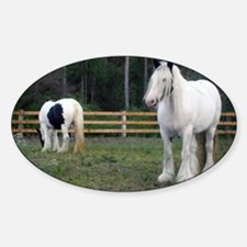 Gypsy Vanner Horses Rose Petal  Raw Decal