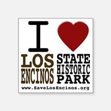 "savelosencinos_whiteshirt Square Sticker 3"" x 3"""