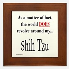 Shih Tzu World Framed Tile