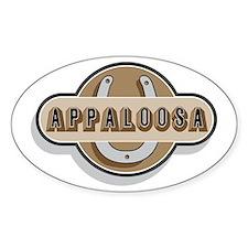 Appaloosa Horse Oval Sticker