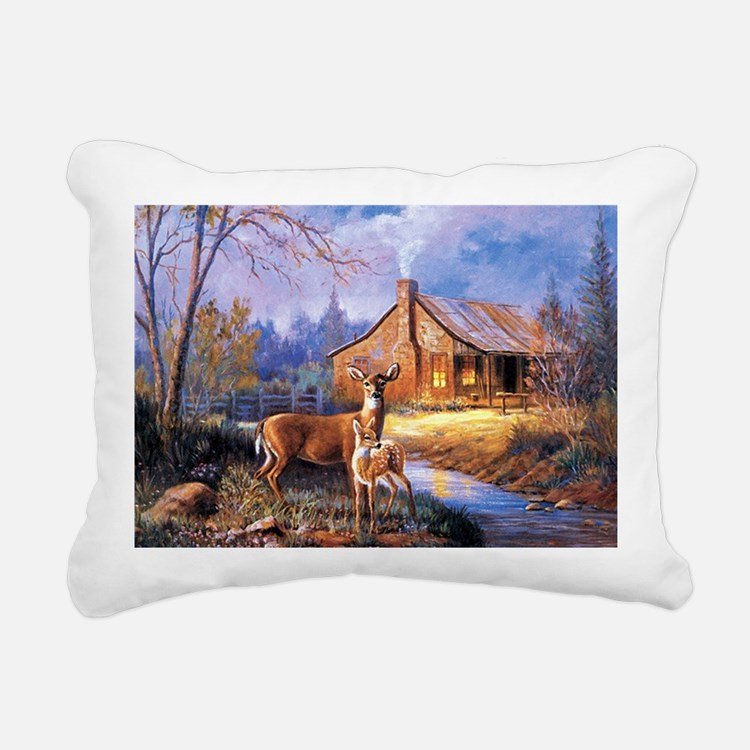 Oh-Deer Rectangular Canvas Pillow