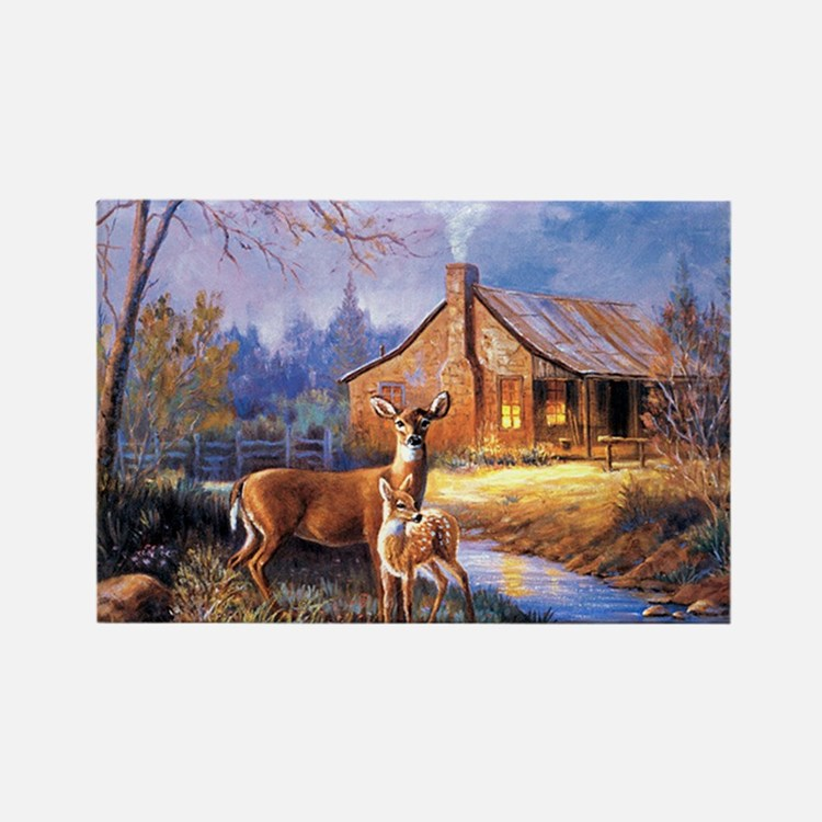 Oh-Deer Rectangle Magnet