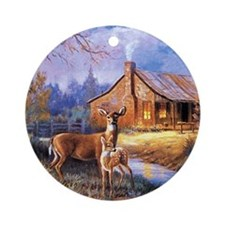 Oh-Deer Round Ornament