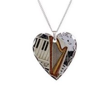harp-5432 Necklace Heart Charm