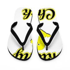 Skiing Chick Flip Flops