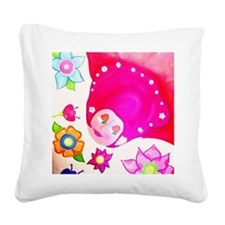 flying Square Canvas Pillow