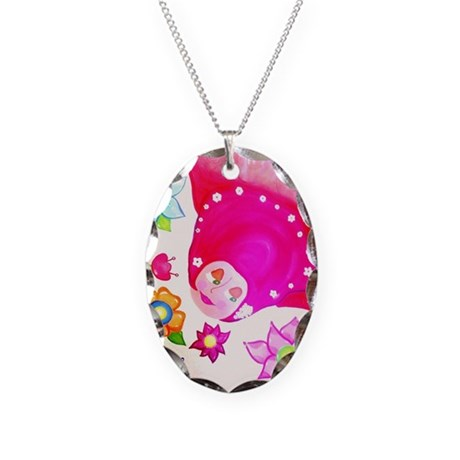 flying Necklace Oval Charm