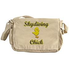 Skydiving Chick Messenger Bag