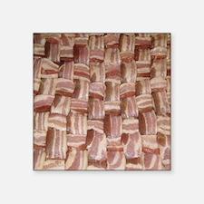 "baconweave-square Square Sticker 3"" x 3"""