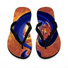 motherandchildochrebluecopy Flip Flops